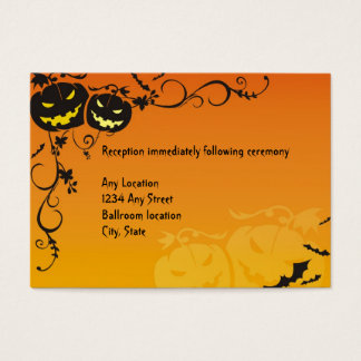 Halloween Wedding Reception Cards