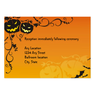 Halloween Wedding Reception Cards Large Business Card