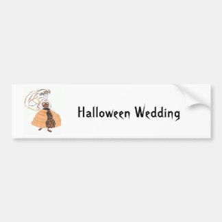Halloween Wedding/save the date Bumper Sticker