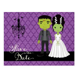 Halloween Wedding Save the Date Postcard