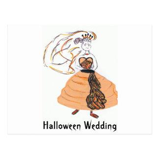 Halloween Wedding/save the date Postcard