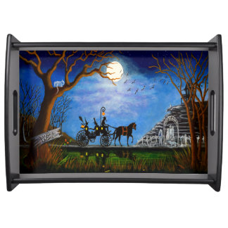 Halloween wedding serving tray Halloween Honeymoon
