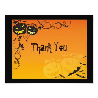 Halloween Wedding Thank You Cards