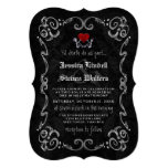 "Halloween Wedding ""TIL DEATH"" Skeletons & Heart Invitation (Visit shop for more wedding invites in this theme)"