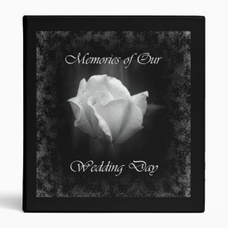 Halloween Wedding-White Rose Avery Binder