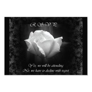 Halloween Wedding-White Rose RSVP Cards
