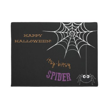 Halloween Themed Halloween Welcome Mat with Spider Web
