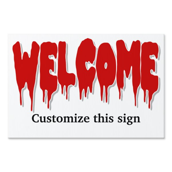 Halloween welcome party PERSONALIZE Lawn Sign