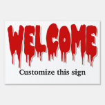 Halloween welcome party PERSONALIZE Signs