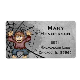 Halloween Werewolf Costume Address Label