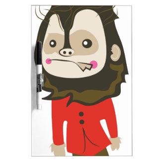 Halloween Werewolf Dry-Erase Board