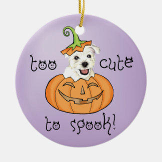 Halloween Westie Ceramic Ornament