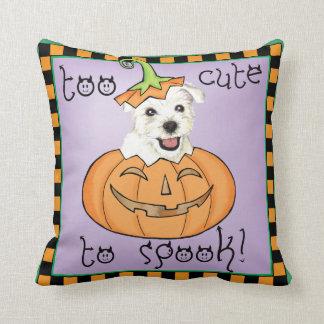 Halloween Westie Cojín Decorativo