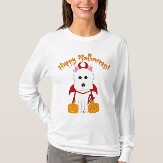 Halloween Westie Devil T-Shirt