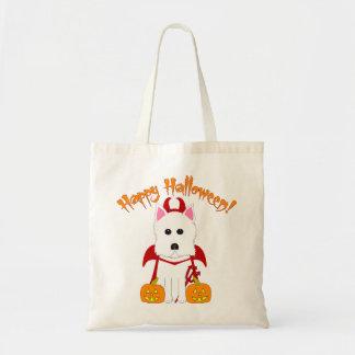 Halloween Westie Devil Tote Bag