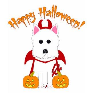 Halloween Westie Devil shirt