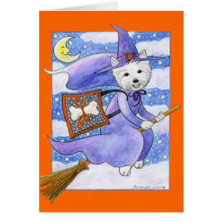 Halloween Westie Dog Card