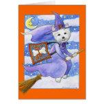 Halloween Westie Dog Greeting Cards
