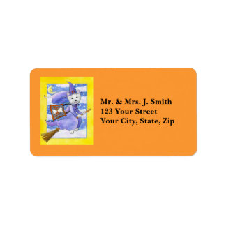 Halloween Westie Dog Custom Address Labels