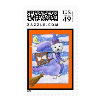 Halloween Westie Dog Postage