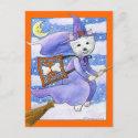 Halloween Westie Dog Postcard postcard