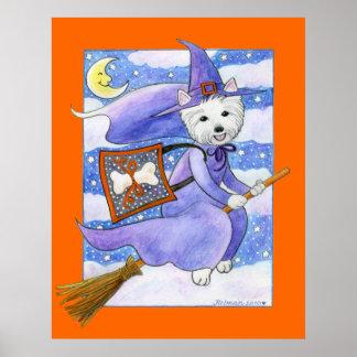 Halloween Westie Dog Posters