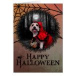 Halloween - Westie - Lady Cards