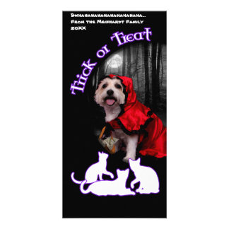 Halloween - Westie - Lady Picture Card