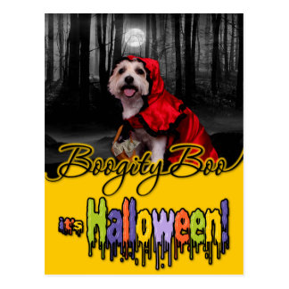Halloween - Westie - Lady Post Cards