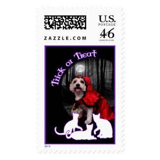 Halloween - Westie - Lady Stamps