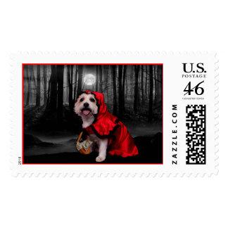 Halloween - Westie - Lady Postage Stamp