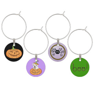 Halloween Westie Wine Glass Charm