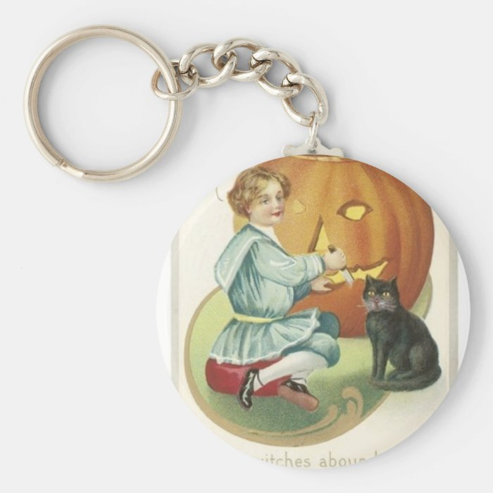 Halloween, When Witches abound and Ghosts are... Keychain