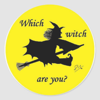 Halloween - Which witch are you Classic Round Sticker