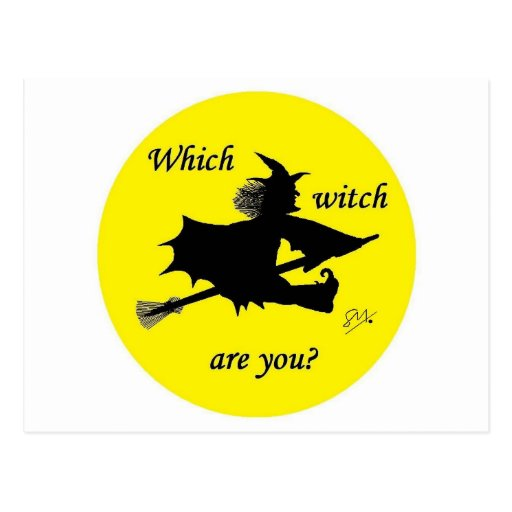 Halloween - Which witch are you Postcard