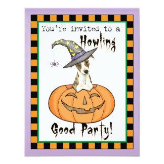 """Halloween Whippet Invitación 4.25"""" X 5.5"""""""
