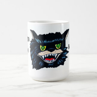 HALLOWEEN WICKED BLACK CAT mug