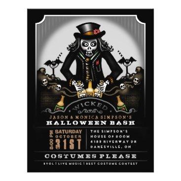 juliea2010 Halloween Wicked Party Bash 8.5 x 11 Flyer