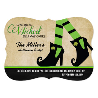 Halloween Wicked Witch Halloween Party Invitations