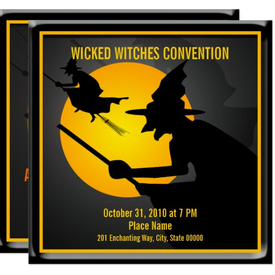 Halloween Wicked Witch Party Invitation