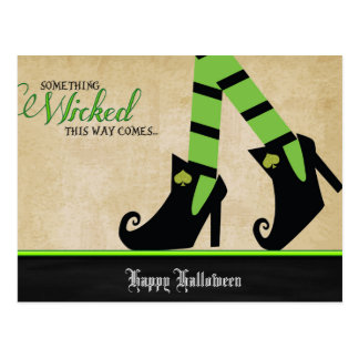 Halloween Wicked Witch Shoe Postcards