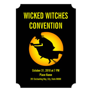 Halloween Wicked Witches Convention Party Invite