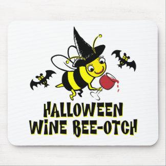 Halloween Wine Beeotch Mouse Pad
