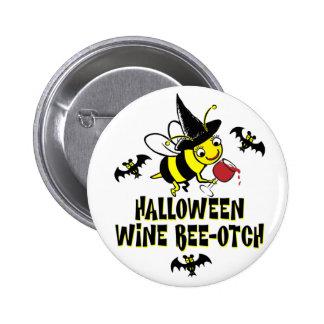 Halloween Wine Beeotch Pinback Button