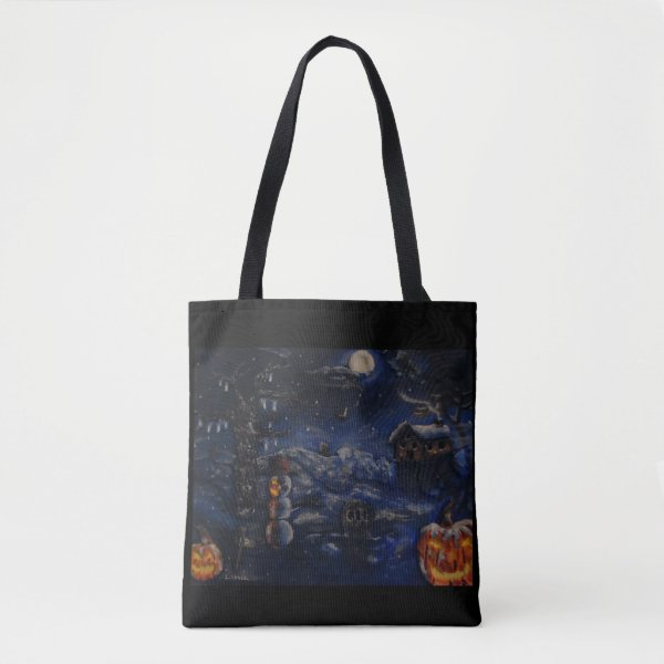 Halloween Winter Purse Painting Tote Bag