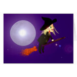 Halloween Wireless Witch Greeting Cards