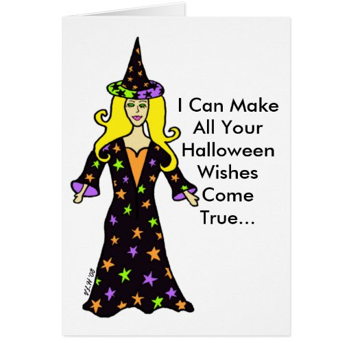 Halloween Wishes Greeting Card