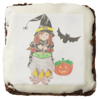 Halloween witch 1 brownies square brownie