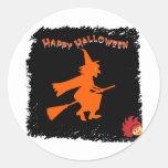 Halloween_Witch 1 Pegatina Redonda