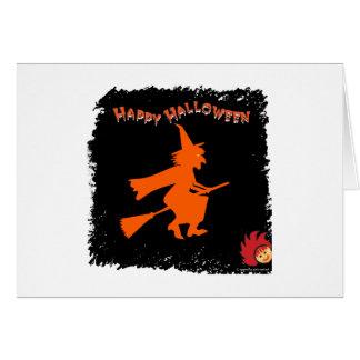 Halloween_Witch 1 Tarjeta De Felicitación